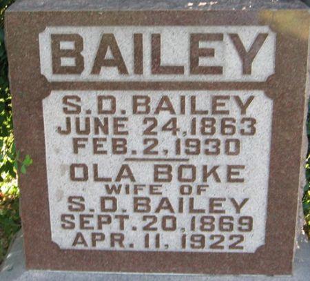 BOKE BAILEY, OLA - Muscatine County, Iowa | OLA BOKE BAILEY