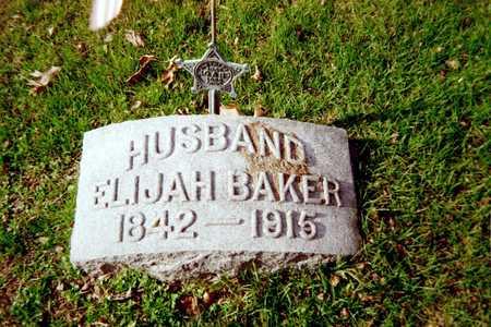 BAKER, ELIJAH - Muscatine County, Iowa | ELIJAH BAKER