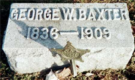 BAXTER, GEORGE W. - Muscatine County, Iowa   GEORGE W. BAXTER