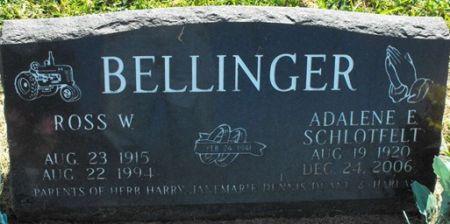 SCHLOTFELT BELLINGER, ADALENE E. - Muscatine County, Iowa   ADALENE E. SCHLOTFELT BELLINGER