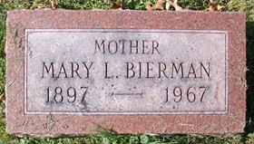 CAMPBELL BIERMAN, MARY LAVINA - Muscatine County, Iowa   MARY LAVINA CAMPBELL BIERMAN