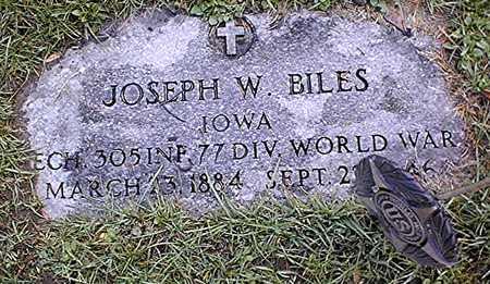 BILES, JOSEPH W. - Muscatine County, Iowa   JOSEPH W. BILES