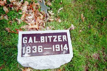 BITZER, GAL. - Muscatine County, Iowa   GAL. BITZER