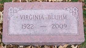 BLUHM, VIRGINIA A. - Muscatine County, Iowa | VIRGINIA A. BLUHM