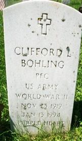 BOHLING, CLIFFORD LLOYD - Muscatine County, Iowa   CLIFFORD LLOYD BOHLING