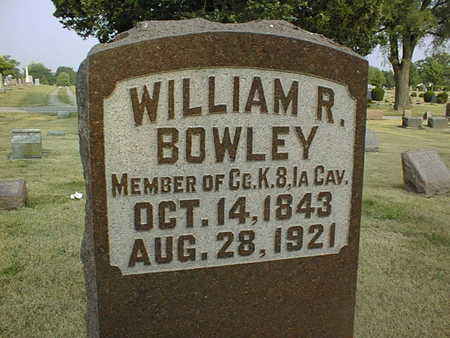 BOWLEY, WILLIAM R. - Muscatine County, Iowa | WILLIAM R. BOWLEY