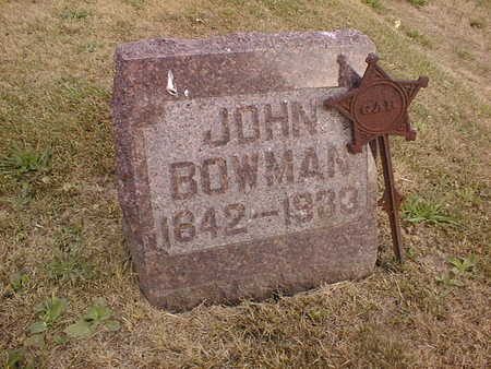 BOWMAN, JOHN - Muscatine County, Iowa   JOHN BOWMAN