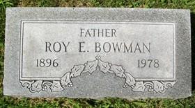 BOWMAN, ROY E. - Muscatine County, Iowa   ROY E. BOWMAN