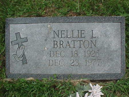 BRATTON, NELLIE L. - Muscatine County, Iowa   NELLIE L. BRATTON