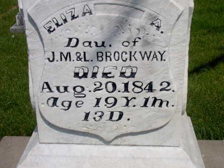 BROCKWAY, ELIZA A. - Muscatine County, Iowa | ELIZA A. BROCKWAY