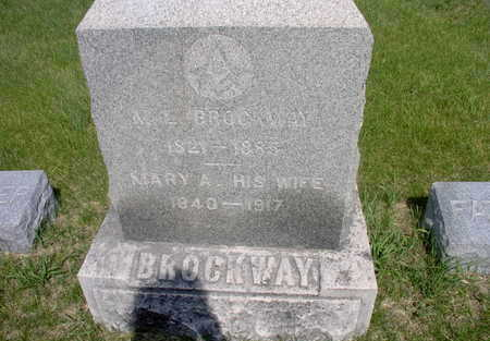 BROCKWAY, MARY A. - Muscatine County, Iowa | MARY A. BROCKWAY