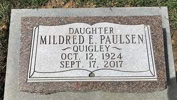 PAULSEN BROWN, MILDRED E. - Muscatine County, Iowa | MILDRED E. PAULSEN BROWN