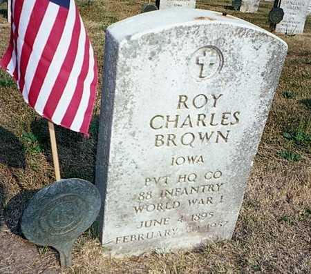 BROWN, ROY CHARLES - Muscatine County, Iowa   ROY CHARLES BROWN