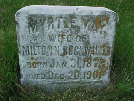 BUCKWALTER, MYRTLE MAY - Muscatine County, Iowa   MYRTLE MAY BUCKWALTER