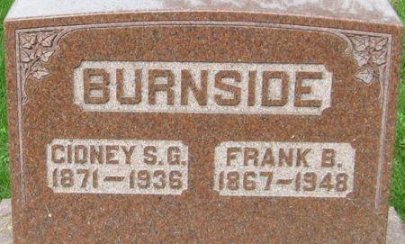 BURNSIDE, FRANK B. - Muscatine County, Iowa   FRANK B. BURNSIDE
