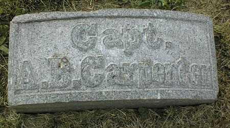 CARPENTER, CAPT. A.B. - Muscatine County, Iowa | CAPT. A.B. CARPENTER