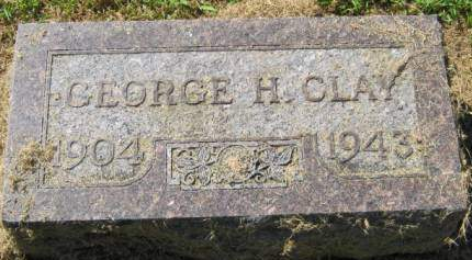 CLAY, GEORGE H - Muscatine County, Iowa   GEORGE H CLAY