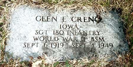 CRENO, GLEN E. - Muscatine County, Iowa   GLEN E. CRENO
