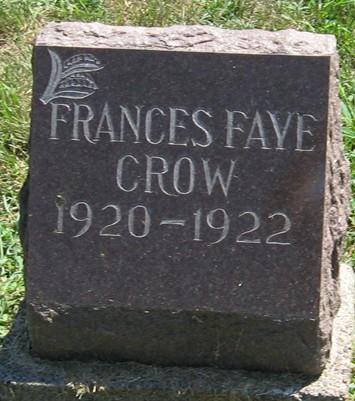 CROW, FRANCES FAYE - Muscatine County, Iowa | FRANCES FAYE CROW