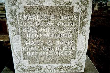 DAVIS, CHARLES B. - Muscatine County, Iowa   CHARLES B. DAVIS