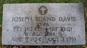 DAVIS, JOSEPH BLAND - Muscatine County, Iowa   JOSEPH BLAND DAVIS