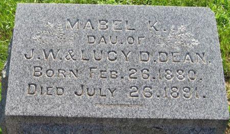 DEAN, MABEL K. - Muscatine County, Iowa | MABEL K. DEAN