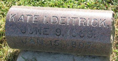 DEITRICK, KATE I. - Muscatine County, Iowa | KATE I. DEITRICK