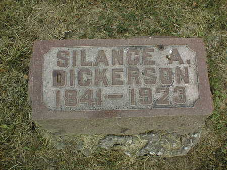 DICKERSON, SILANCE A. - Muscatine County, Iowa   SILANCE A. DICKERSON
