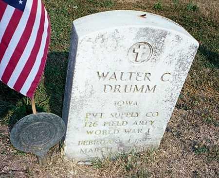 DRUMM, WALTER CHARLES - Muscatine County, Iowa | WALTER CHARLES DRUMM