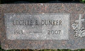 DUNKER, LUCILLE PAULINE ELIZABETH - Muscatine County, Iowa   LUCILLE PAULINE ELIZABETH DUNKER