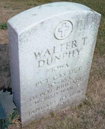 DUNPHY, WALTER T. - Muscatine County, Iowa   WALTER T. DUNPHY
