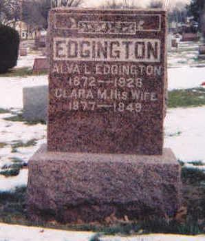 EDGINGTON, ALVA L. - Muscatine County, Iowa | ALVA L. EDGINGTON