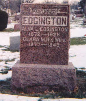 MUNDY EDGINGTON, CLARA M. - Muscatine County, Iowa | CLARA M. MUNDY EDGINGTON