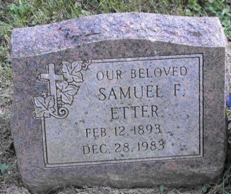 ETTER, SAMUEL F. - Muscatine County, Iowa   SAMUEL F. ETTER
