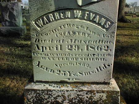 EVANS, WARREN W. - Muscatine County, Iowa | WARREN W. EVANS