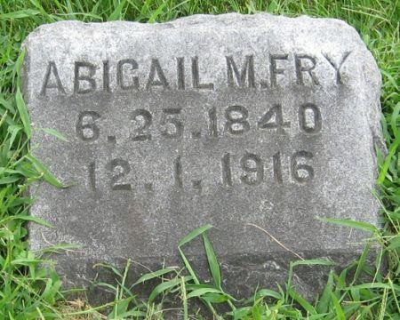 FRY, ABIGAIL M. - Muscatine County, Iowa   ABIGAIL M. FRY