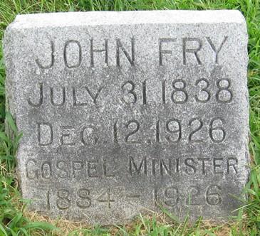 FRY, JOHN - Muscatine County, Iowa | JOHN FRY