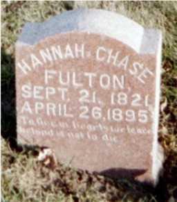 FULTON, HANNAH CHASE - Muscatine County, Iowa   HANNAH CHASE FULTON