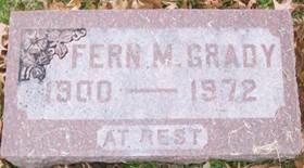GRADY, FERN M. - Muscatine County, Iowa   FERN M. GRADY