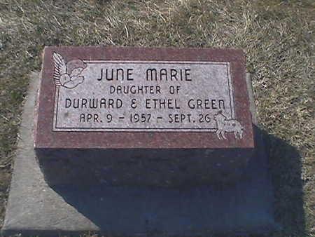 GREEN, JUNE - Muscatine County, Iowa | JUNE GREEN