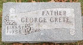 GRETE, GEORGE JULIUS - Muscatine County, Iowa | GEORGE JULIUS GRETE