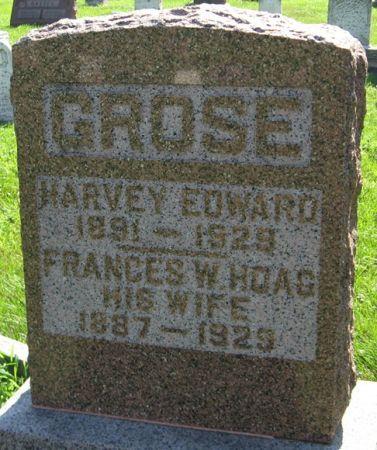 HOAG GROSE, FRANCES W. - Muscatine County, Iowa   FRANCES W. HOAG GROSE