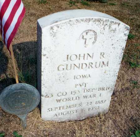 GUNDRUM, JOHN RUDOLPH - Muscatine County, Iowa   JOHN RUDOLPH GUNDRUM