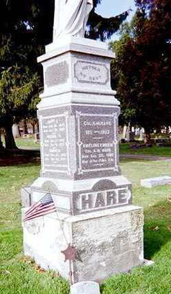 HARE, FAMILY MONUMENT - Muscatine County, Iowa | FAMILY MONUMENT HARE