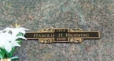 HENNING, HAROLD H. - Muscatine County, Iowa | HAROLD H. HENNING