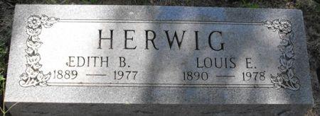 HERWIG, EDITH B. - Muscatine County, Iowa   EDITH B. HERWIG