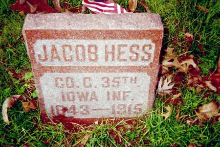 HESS, JACOB - Muscatine County, Iowa | JACOB HESS