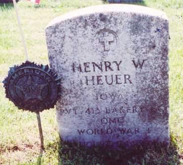 HEUER, HENRY W. - Muscatine County, Iowa | HENRY W. HEUER