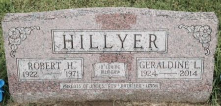 GREEN HILLYER, GERALDINE L. - Muscatine County, Iowa   GERALDINE L. GREEN HILLYER