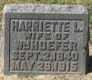 HOEFER, HARRIETTE L. - Muscatine County, Iowa | HARRIETTE L. HOEFER